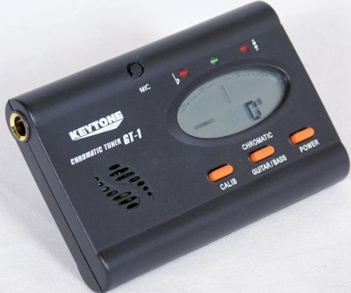 Stimmgerät Gitarre Bass Ukulele Tuner chromatisch LCD Mikrofon Klinkenanschluss Display