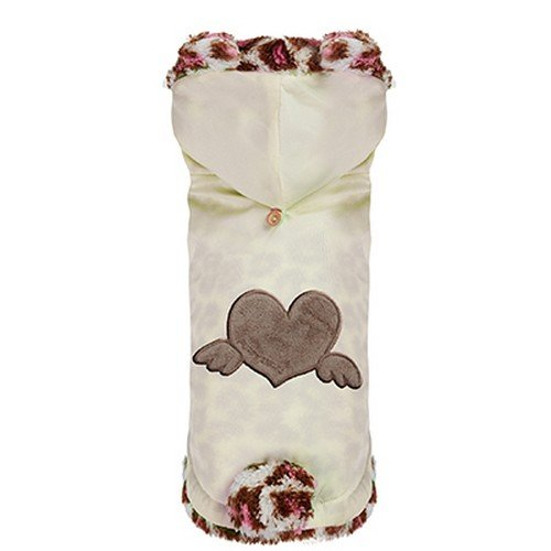 Puppy Angel Pull Over Heart pour Chiens Angel Ivoire Taille SM