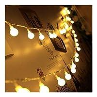 Sognante クリスマスライト、新しい1.5メートル3メートル6メートルのガーランドクリスマスライトLEDライト、ボールストリングライト結婚式の家の装飾のための防水ストリングライト ルーシー装飾 (Color : Warm White, Size : 1.5M 10LED)