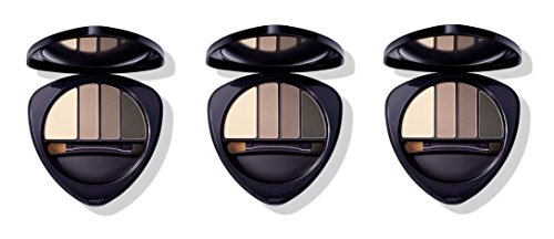 Dr.HAUSCHKA – Eye and Brow Palette 01 Stone 3 boîtes de 4,4 g, Fard à paupières en 100% naturel, tons vellutate et opaques, profondeur et espressività du regard