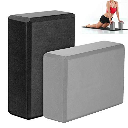 2 Piezas Yoga Blocks Ladrillo Yoga Antideslizante Yoga Ejercicio Ladrillos Ladrillo Yoga Espuma Yoga Bloque Espuma Bloques Yoga Antideslizantes EVA Alta Densidad para Yoga Pilates Meditación