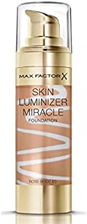 Max Factor Skin Luminizer Miracle Liquid Face Foundation - 30 ml, 65 Rose Beige