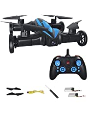 2.4G Remote Control Drone Land & Air Amphibious Flying RC Car Drone Toys With LED Light Headless Mode 360 Flipping SOLALA