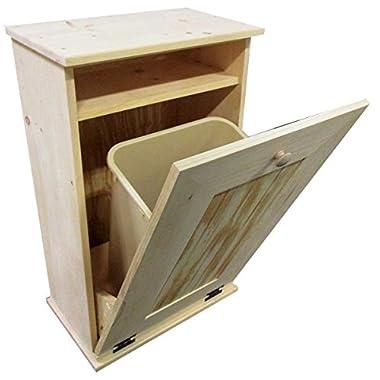Tilt-Out Wooden Trash Bin Holder (Unfinished)