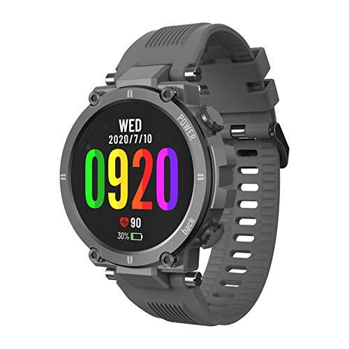 YDL Raptor Smart Watch Men 1.3 Pulgadas IPS Pantalla Táctil Pista De Fitness IP68 IP68 Impermeable Monitor De Ritmo Cardíaco Moda Smartwatch (Color : Gray)