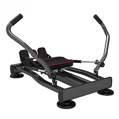 VIO Vogatore Gambe rotanti Canottaggio Attrezzature per fitness Indoor Vogatori Famiglia,nero,Taglia unica