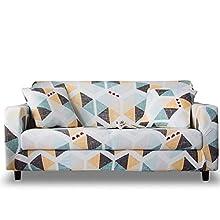 HOTNIU Funda Sofa 3 Plazas Fundas de Sofa Elasticas Fundas para Sofá Ajustables Estampada Cubre Sofa con 1 Funda de Cojín, Tres Plazas, Impresión #Xy