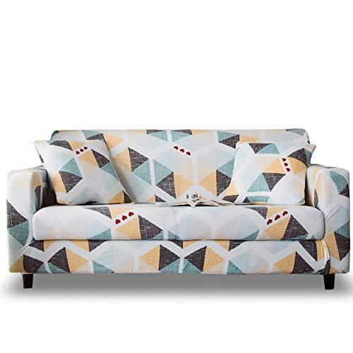 HOTNIU Funda Elástica de Sofá Funda Estampada para sofá Antideslizante Protector Cubierta de Muebles (4 Plazas, Impresión #Xy)