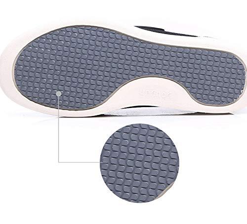 B/H Zapatillas para DiabéTicos con Espuma,Zapatos para Ancianos de Verano de Gran tamaño, Zapatos de Madre Antideslizantes-Azul Yarn_36