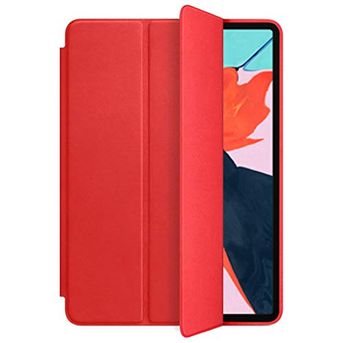 1PC Magnetic Stand PU Leather Cover Case For iPad Pro 12.9 Inch 2018 Tablet PC (Red)
