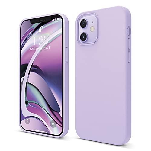 elago Liquid Silicone Case Kompatibel mit iPhone 12 Hülle & Kompatibel mit iPhone 12 Pro Hülle (6,1'), Hochwertiges Silikon, Rundumschutz Handyhülle : 3-Layer Struktur Schutzhülle (Violett)