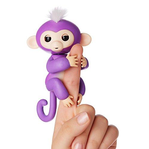 Fingerlings Äffchen lila mit weißem Haar Mia 3704 interaktives Spielzeug, reagiert auf Geräusche, Bewegungen und Berührungen