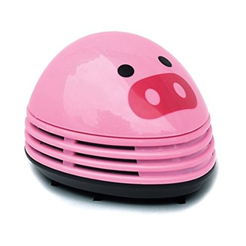 discoGoods Annoyed Prints Emoticon Pattern Battery Operated Desktop Vacuum Cleaner Mini Dust Cleaner (Pink pig)
