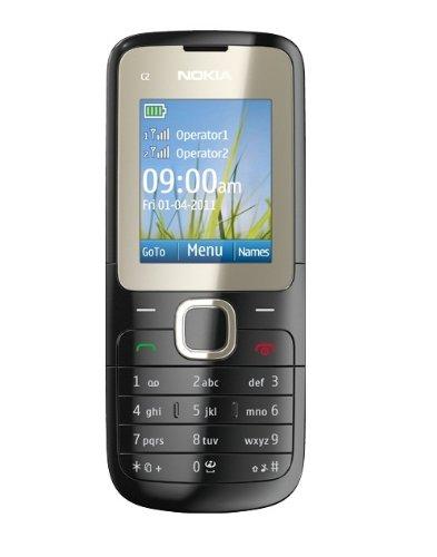 Nokia C2-00 Telefono Cellulare, Dual SIM, Dual Band, Radio FM, Grigio