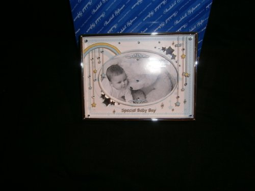 mooie ansichtkaart speciale baby jongen fotolijst