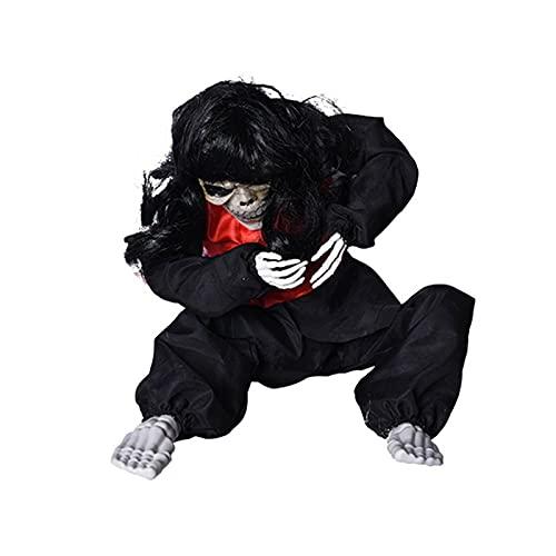 Mudicy Accesorios de Halloween Fantasma llorón tembloroso Realista, decoración del hogar de la casa embrujada, Accesorios de Halloween para Interiores y Exteriores, Funciona con Pilas