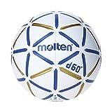 MOLTEN S3200131 Balón de Balonmano, H2D4000-Bw, Cuero Sintético, Talla 2,...