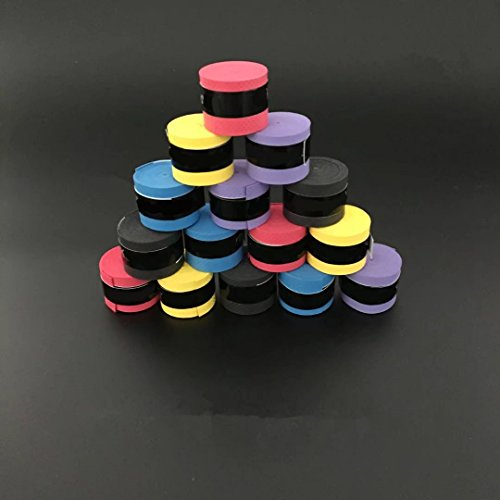 Ricisung Rutschfestes Klebeband für Badminton-/Tennisschläger, Random Colour-5pcs