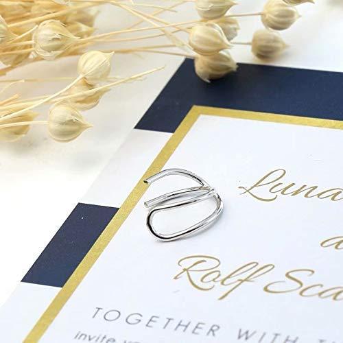 SUNXIN Moda Ear Cuff Wrap Rhinestone Clip de cartílago en el pendiente No piercing joyería