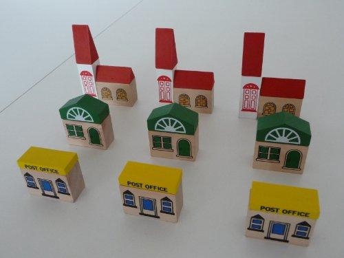 point-kids Ferrocarril de madera para juguete, accesorio para casas, 24 piezas
