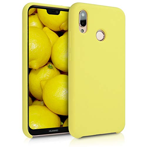 kwmobile Funda para Huawei P20 Lite - Carcasa de TPU para teléfono móvil - Cover Trasero en Amarillo Pastel