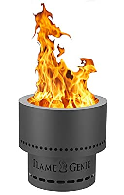 HY-C FG-19-SS Flame Genie Portable Inferno Rust Proof Wood Pellet Fire Pit, USA Made