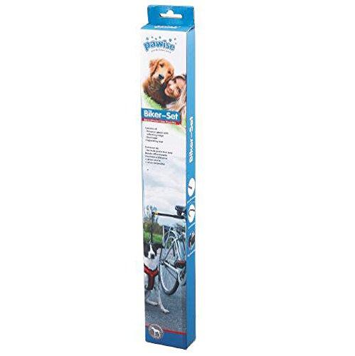 PAWISE 13061 Fahrrad Abstandhalter Hunde Fahrradleine Führhalter Biker-Set