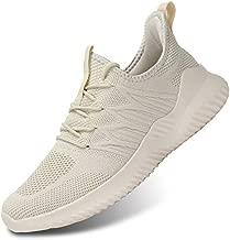 Men's Slip-on Running Shoes Comfortable Lightweight Breathable Walking Tennis Sneakers Zapatos de Hombre Beige