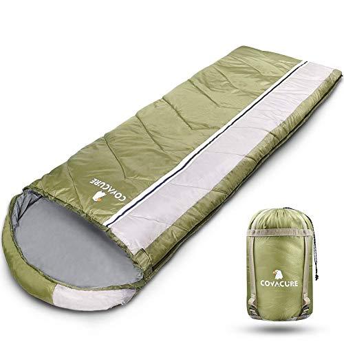 COVACURE Schlafsack Deckenschlafsack - Leicht, Kompakt, Wasserdicht, Warm für 3 Jahreszeitenn Drinnen & Drauße, 210 x 78 cm für Erwachsene & Kinder