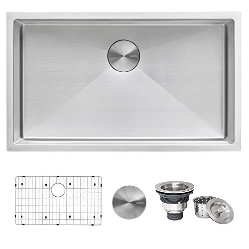 Ruvati 30-inch Undermount 16 Gauge Tight Radius Kitchen Sink...