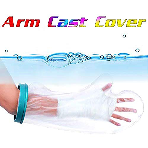 【2020 Newest】 Waterproof Arm Cast Cover for Shower, Swimming, Bath - Reusable Cast Protector, Cast Bag, Cast Sleeve - Watertight Protection for Broken Hands, Fingers, Wrists, Arms