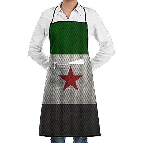 Eliuji Retro Vlag Van Syrië Schort Volwassen Koken Keuken Schorten Bib Met Zakken