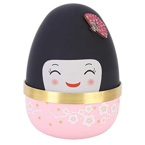 La Caja de música Japonesa en Forma de muñeca, la decoración del hogar, la Caja de música se Pueden Usar para cumpleaños, acción de Gracias, Regalos de San Valentín(Rosa)
