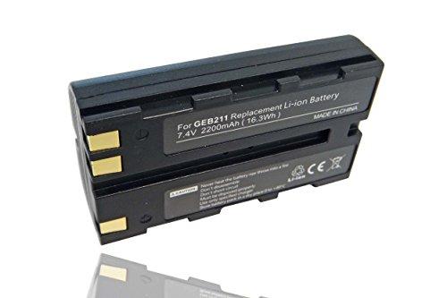 vhbw Li-Ion Akku 2200mAh (7.4V) für Laser Kamera Leica Viva GS08 Plus NetRover, TS12 wie 724117, 733269, GEB90.