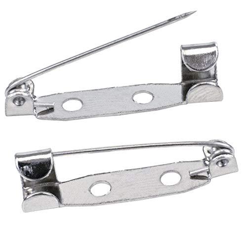 TRIXES 100-teiliges Set mit Brosche-Pins Sichere Verschlussspange für Schmuck Handwerk und Handarbeiten - 25mm Broschennadeln Sicherheitsnadeln