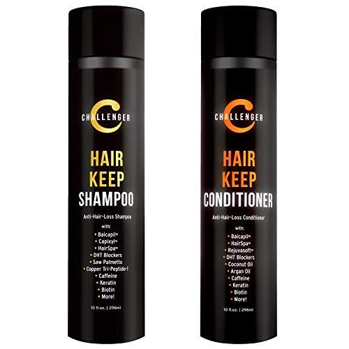 Challenger Hair Keep Shampoo & Conditioner, 2X 10 Oz Bottles | Hair Growth Combo | DHT Blockers| w/Baicapil, Capixil, Rejuvasoft, HairSpa | Caffeine, Biotin, Argan Oil, Coconut Oil & more!