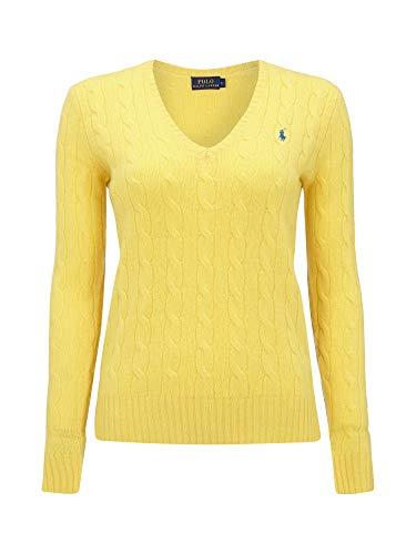 Ralph Lauren Polo Jersey de punto con patrón trenzado. amarillo XL