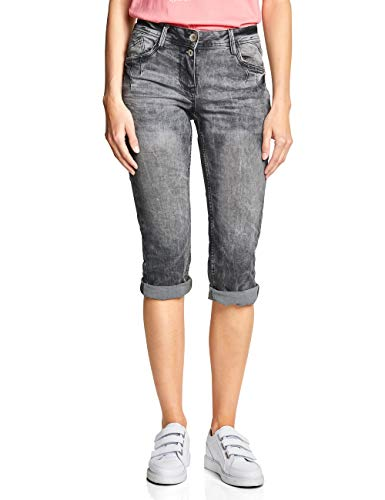 Cecil Damen Scarlett Jeans, Grey Used Wash, 32W