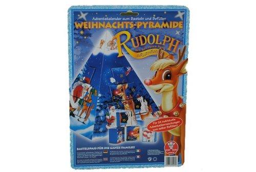 alles-meine.de GmbH Rariät ! Adventskalender Rudolph Weihnachtspyramide Weihnachtskalender - Bastelset zum Basteln