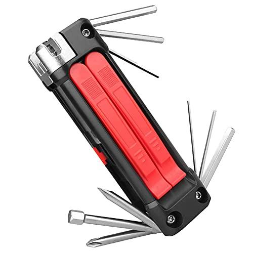 Herramientas de Acero al Carbono MTB Conjunto Multibicycle Repair Tool Kit Hexagonal Llave de radios Ciclismo Destornillador 14 en 1 Multi Herramientas de reparación