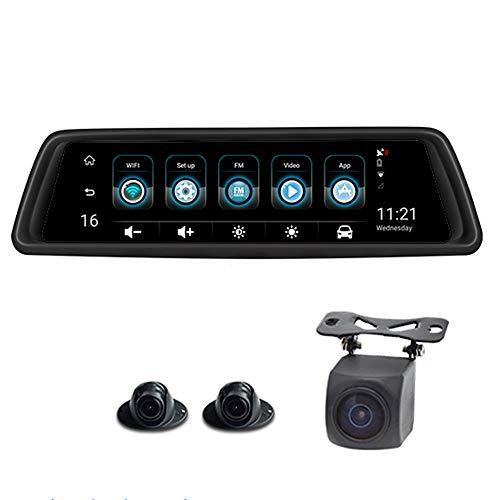 REDCVBN CáMara De Coche Dash 1080p Full HD CáMara para Coches Lente Doble Conducir Grabadora G-Sensor Wdr GrabacióN De Bucle Dvr Monitor De Estacionamiento VisióN Nocturna VisióN Nocturna LCD Full HD