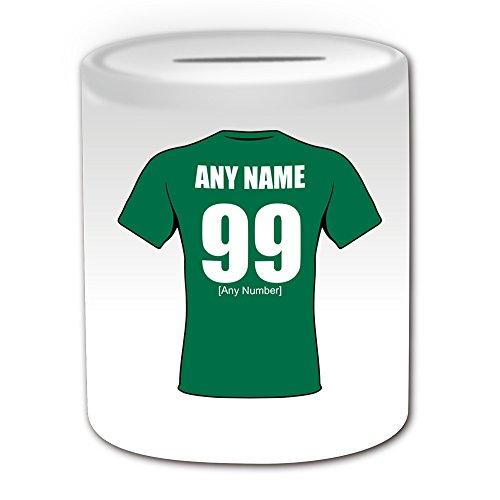 Personalisierter Geschenk-Box Money, London Irish Rugby Union-Club-Design, Weiß, jeder Name und Nachricht an Ihr Einzigartiges, dem Land