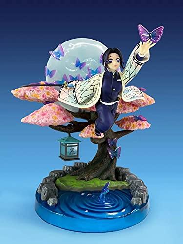 Mopoq Asesino de Demonios TPU Pilar de Insectos Volando Postura Mariposa Ninja Escena Luna Escena en Caja Mano Oficina Aberdeen decoración Modelo