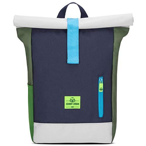 Kinderrucksack Jungen & Mädchen Grün - Johnny Urban Junior Aaron Kindergartenrucksack aus recycelten PET-Flaschen, Kinder Rucksäcke für Kita, Leicht zu Reinigen & Wasserabweisend