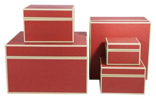 Semikolon Square/Organizer Boxen, Set 5Nistkasten, rot (30904Luftschlauch)