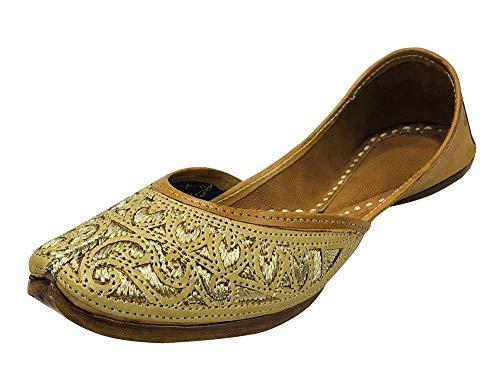 Step n Style Ladies Cream Zari Work Punjabi Jutti Ethnic Mojari Handmade Designer Khussa Shoes