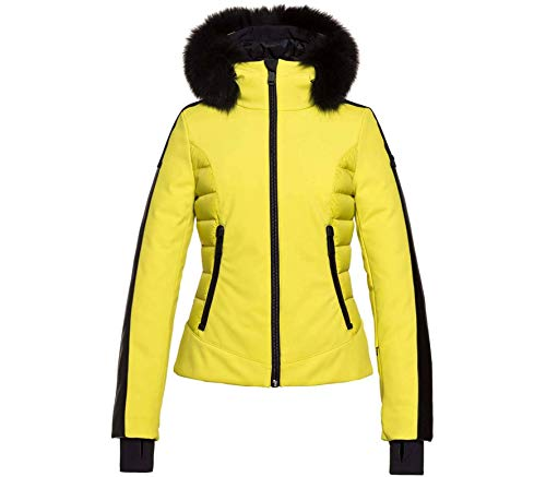 GOLDBERGH W Kaja Jacket Faux Fur Gelb, Damen Daunen Freizeitjacke, Größe 36 - Farbe Lime