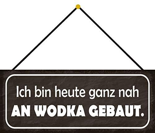 FS Nah an Wodka metalen bord gebogen metalen sign 10 x 27 cm met koord