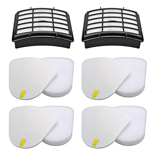 Wolfish 2 + 4 Pack Vacuum Filters Replacement Compatible for Shark Navigator Lift-Away NV350, NV351, NV352, NV355, NV356E, NV357, NV360, NV370, NV391, UV440, UV490, UV540,Replacement XFF350 XHF350