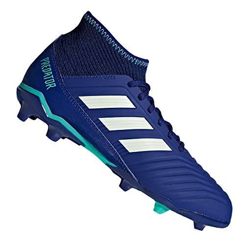 adidas Unisex kinderen Predator 18.3 FG voetbalschoenen, blauw groen blauw groen, 38 2/3 EU